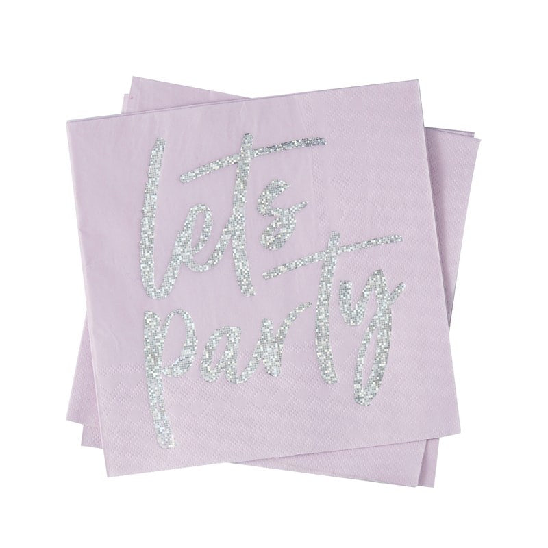 Let's Party Pink Foil Napkins