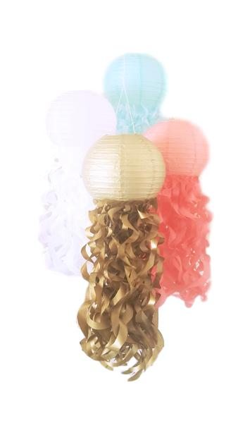 metallic gold paper lanterns