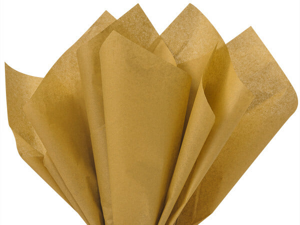 antique gold recycled tissue paper