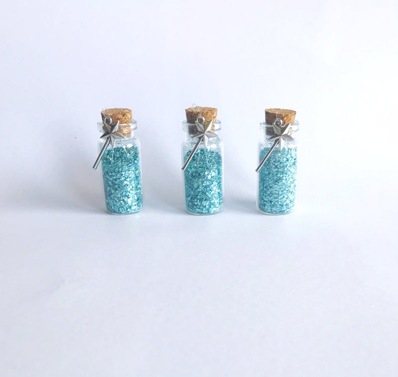 fairy dust favors in blue