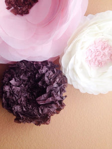 Paper Wall Flowers-Pink Brownie