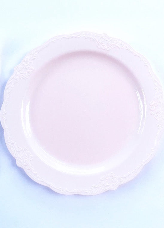 pink plates