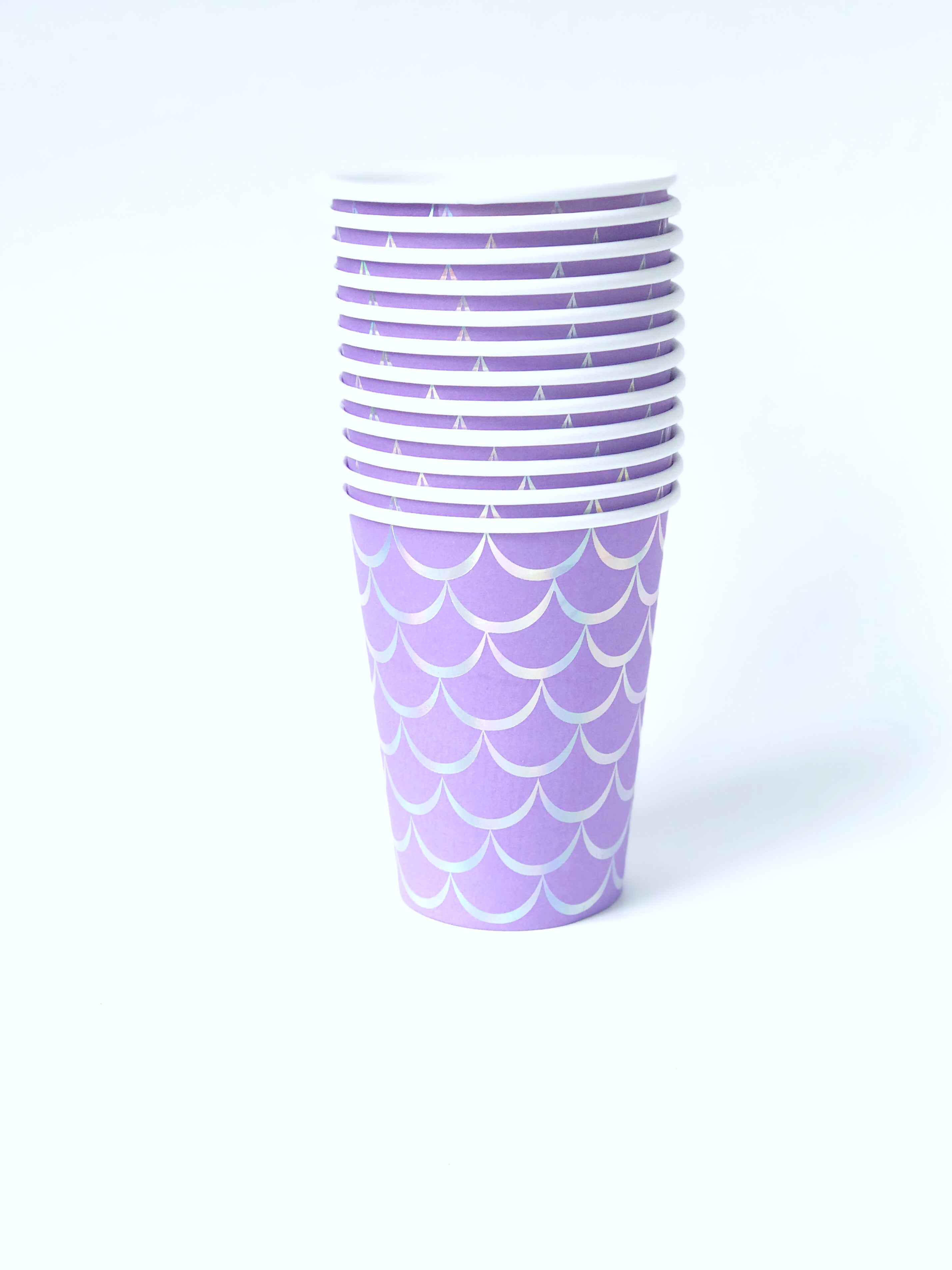 Mermaid Paper Cups- Purple