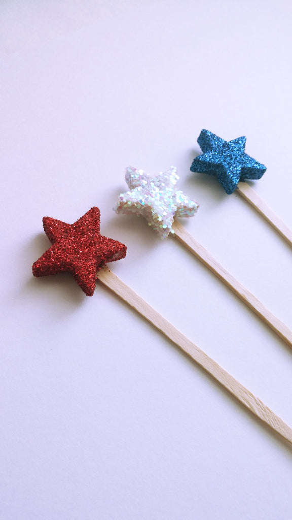 Red, White & Blue Star Toppers
