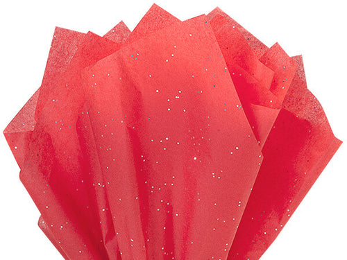 Red glitter tissue paper by Nashville wraps