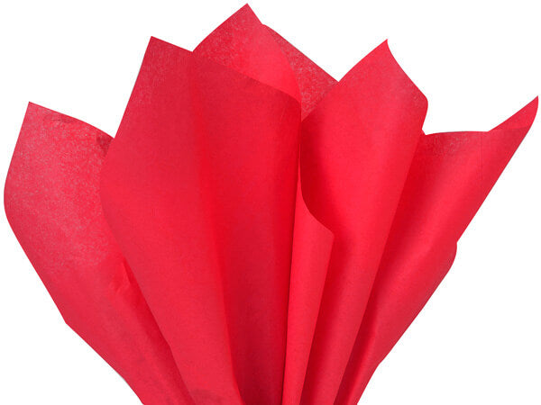 Red recycled tissue paper