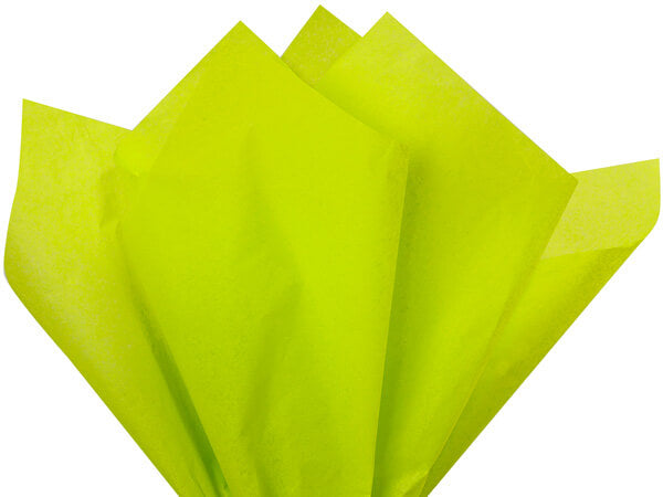 citrus green tissue paper