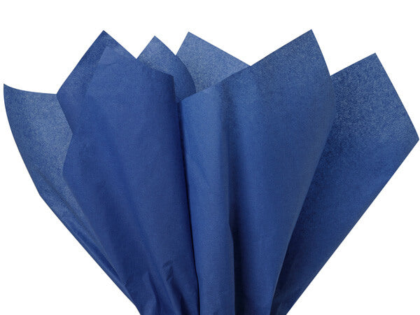 dark blue tissue paper