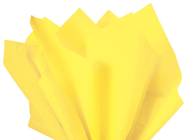 light yellow eco tissue paper