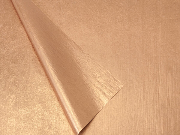 metallic copper tissue paper