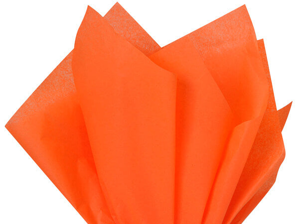 orange recycled tissue paper