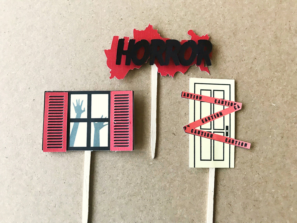 house of horror cupcake toppers