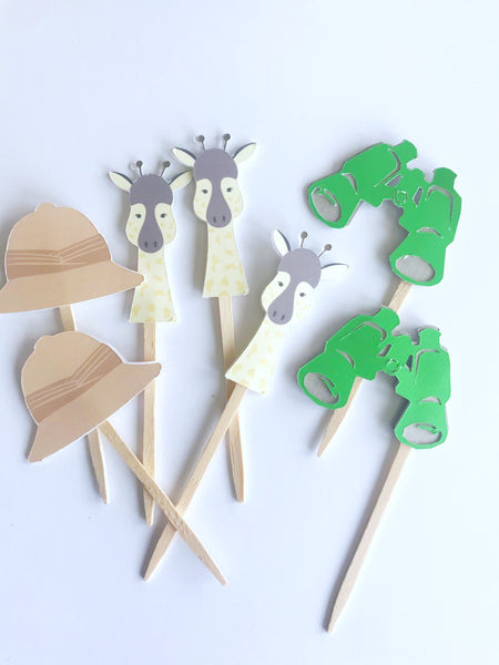 Safari Cupcake Toppers| Set of 12