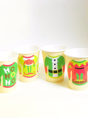 Ugly Christmas Sweater Party Cups