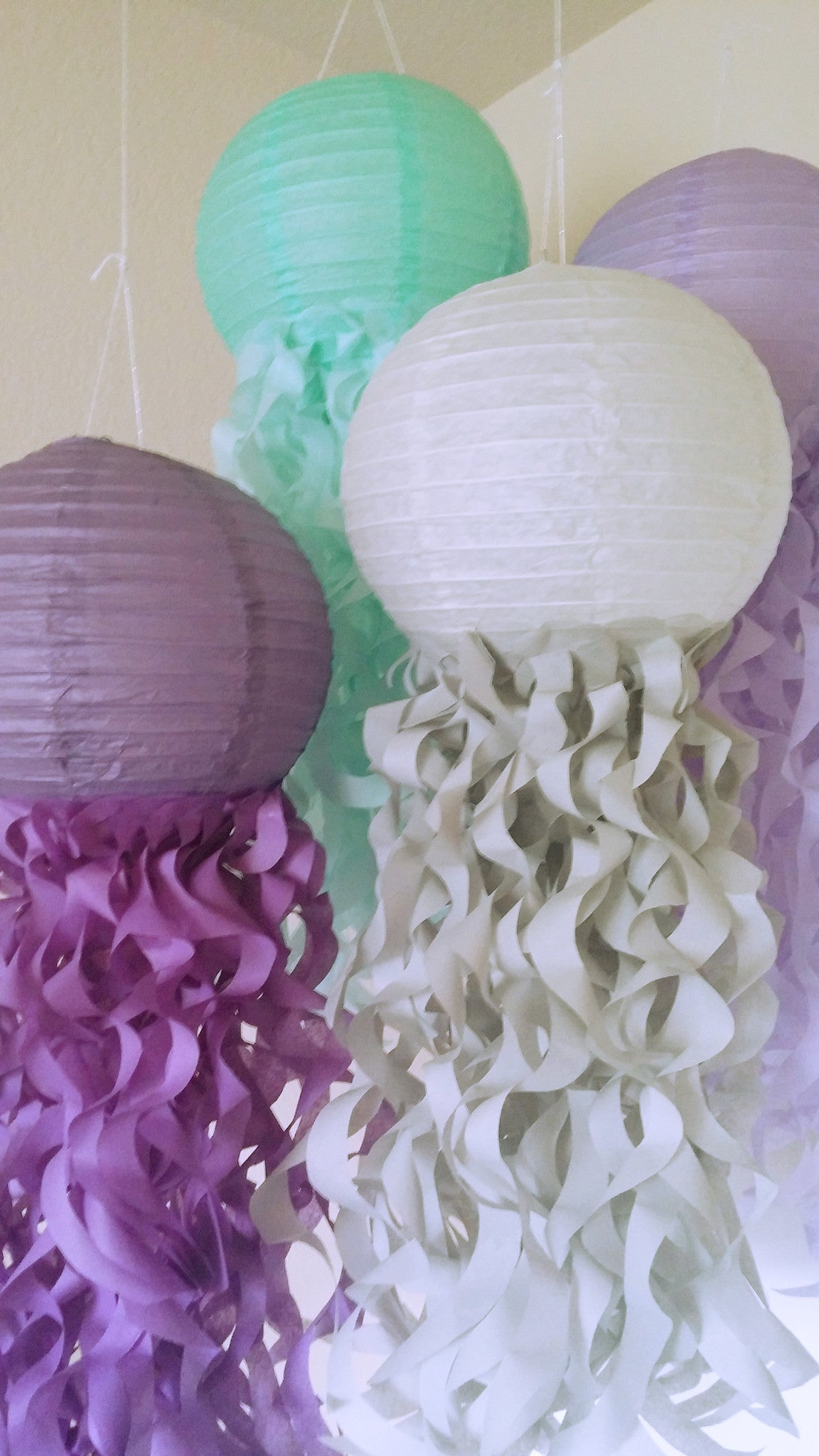 Mermaid Party jellyfish lanterns, Under the sea party, Unicorn party decorations