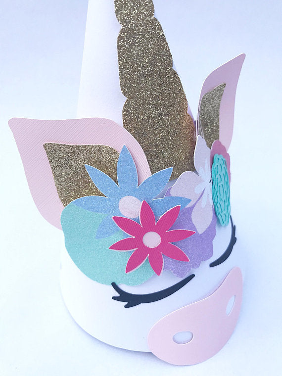 unicorn birthday party hat