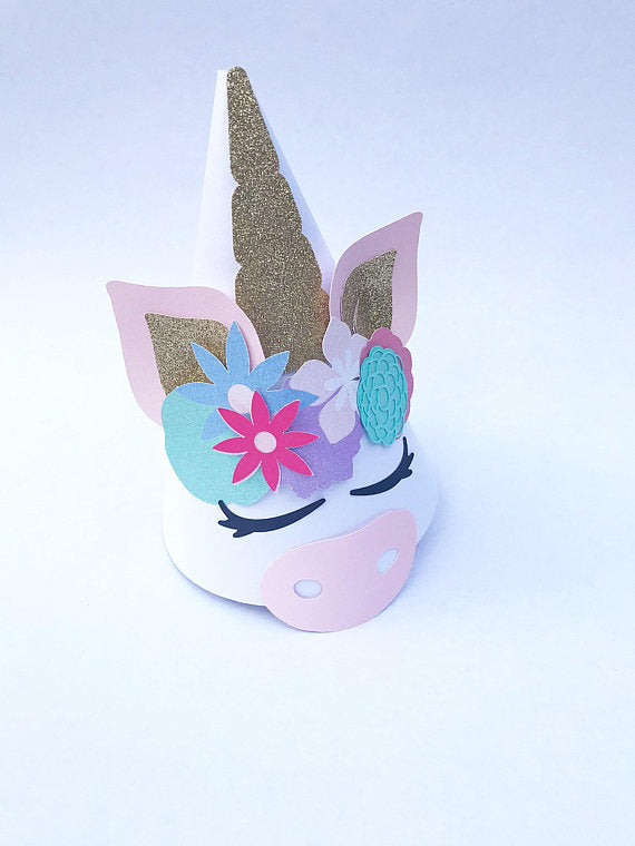 unicorn party hat for party favors