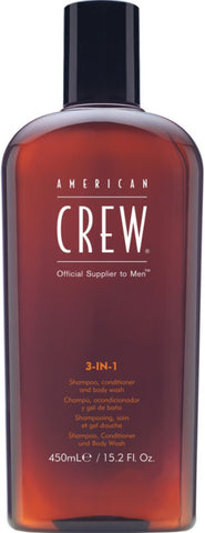 American Crew 3-In-1 Shampoo, Conditioner & Bodywash