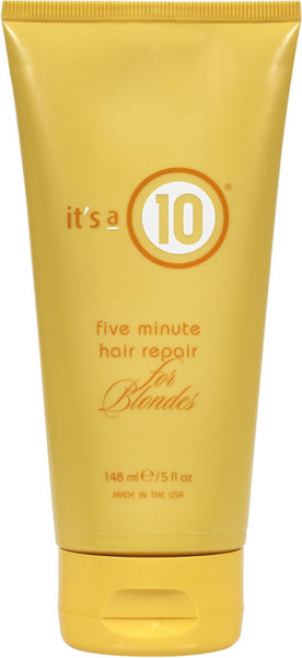 It's A 10 Five Minute Hair Repair for Blondes