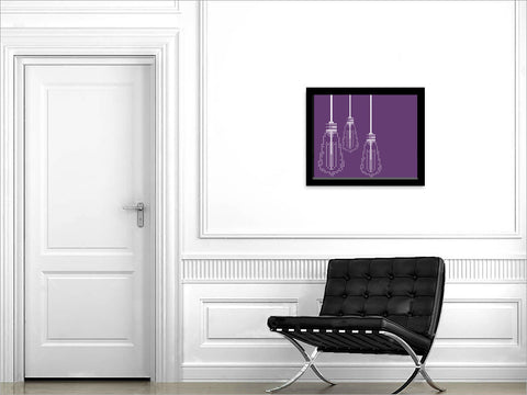 """THINK TANK"" Purple Hues<p>(Edison Bulbs)</p>"