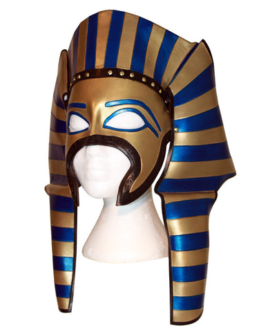 Handmade Egyptian leather mask or King Tut mask