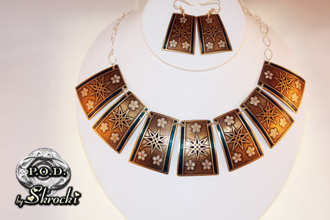 Brass statement necklace handmade