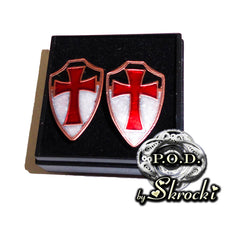 Handmade templar cross cufflinks