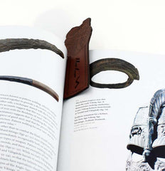 leather viking runes bookmark