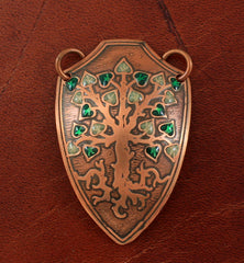 handmade tree of life shield pendant