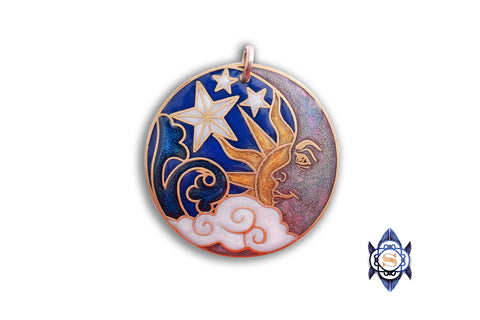 Celestial Pendant with Smiling Moon