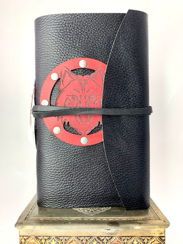 9 x 6 Red Wolf Journal in Soft Leather