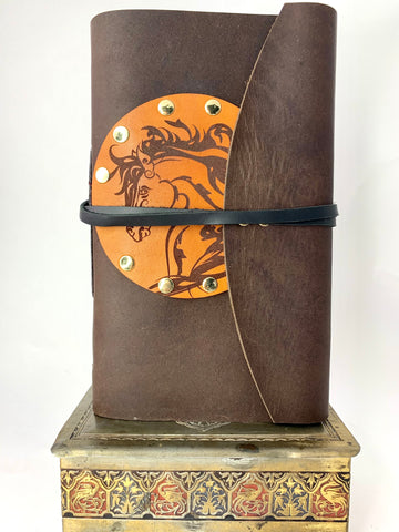 Horse With Flowing Hair Two Tone Brown Journal