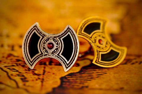 Ancient Axe Cufflinks in Brass