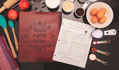 Family Recipe Binder Cover with Personalized Recipes