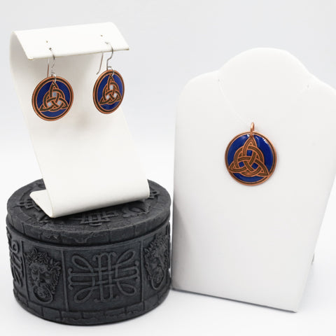 The Celtic Trinity Knot Jewelry Set and Celtic Treasure Box