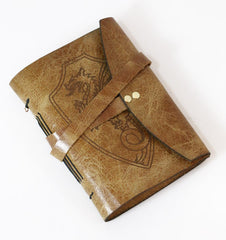 dragon leather bound journal