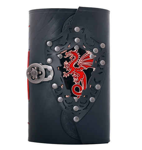 Metal Dragon and Leather 9 x 6 inch Handmade Journal