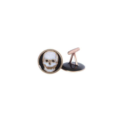 White and Black Skull Cufflinks