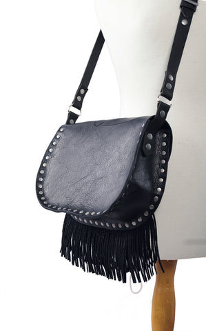 Skull cross body with fringe - Extra Large.