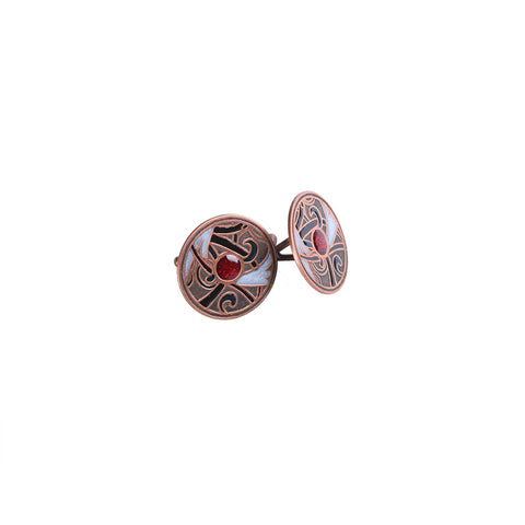 Flourish Cufflinks in Copper