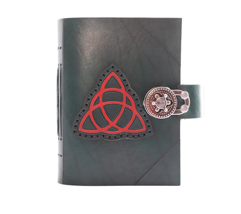 Trinity Knot Journal with hand sewn patch