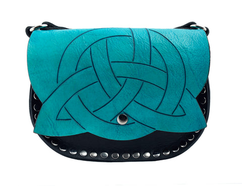 Trinity Knot on flap cross body bag