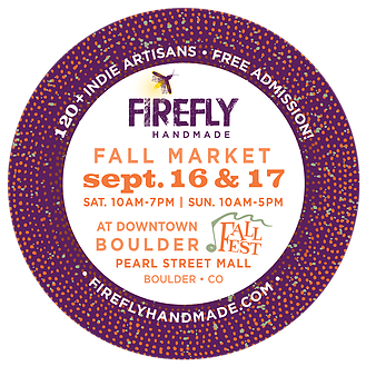 The Good Jar featured at Firefly Artisan Market on the Pearl Street Mall in Boulder on September 16th & 17th