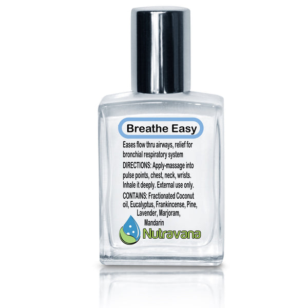 'Breathe Easy' Natural Sinus Headache, Congestion Reliever for Seasonal Irritants, Nasal Relief