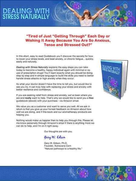 'Stress Relief' Roll On -Anxiety, Tension Reliever for Relaxation & Stress Reduction +Free Guidebook