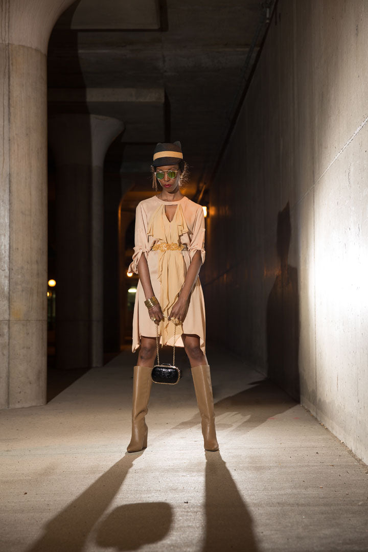 BCBG-Hat-Dress-Belt-Bag-Boots-Dior-Sunglasses