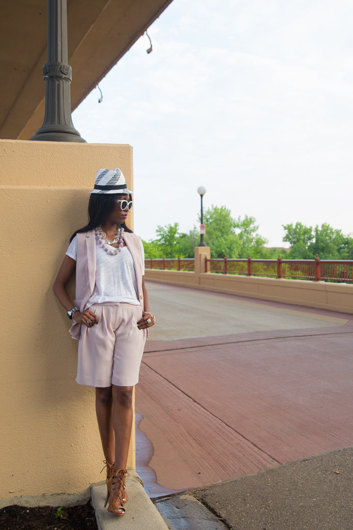 BCBG-Hat-J.Crew-Shorts-Suit-Mombasa-Necklace-by-Dalasini