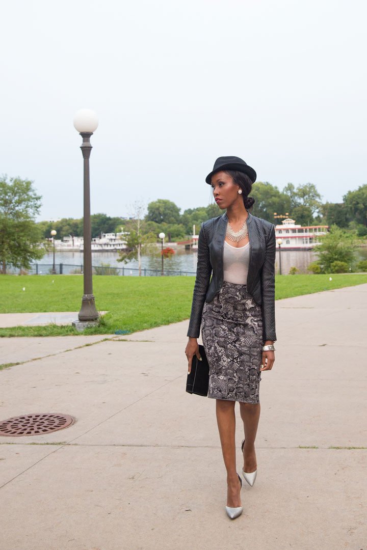 BCBG-Jacket-Skirt-Necklace-Earrings-Pumps-J.Crew-Hat-Bracelets