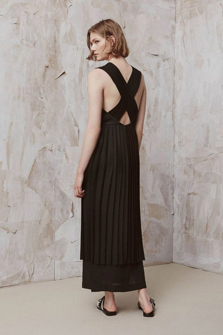 Edun-Knife-Pleated-Gown