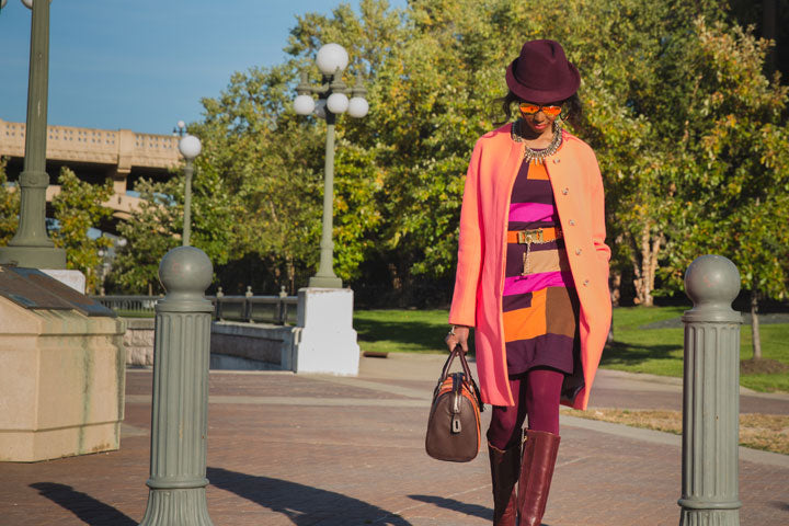 J.Crew-Coat-BCBG-Hat-Sunglasses-Jewelry-Dress-Belt-Tights-Boots